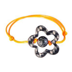 Aroma Carbon Fiber Orange String Bracelet Flower
