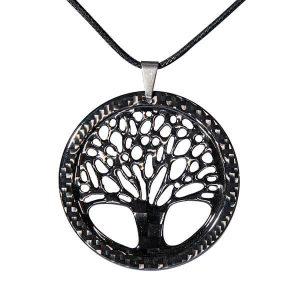 carbon fiber pendant big tree of life high gloss