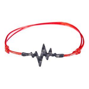 Carbon Fiber Red String Bracelet Pulse