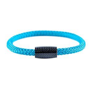 Carbon Fiber Bracelet Blue Surf Cord
