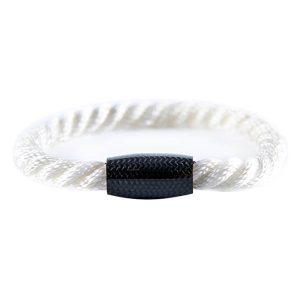 Carbon Fiber Bracelet Twisted Rope White