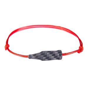 Carbon Fiber Red String Bracelet Bottle