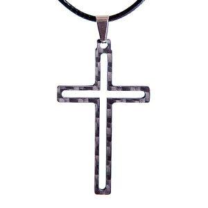 Carbon fiber pendant Cross