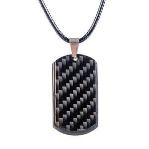 carbon fiber dog tag pendant
