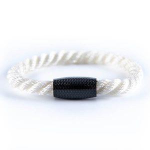 Bracelet_Carbon_Fiber_Twisted_Rope_White-zakcode