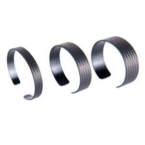 3 Carbon Fiber Bracelet Plain with different width