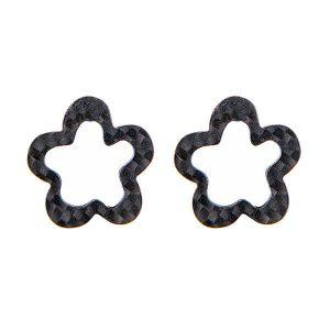 Carbon Fiber Earrings Flower