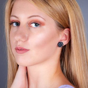 Carbon-fiber-earrings-Hexagon-Crystals