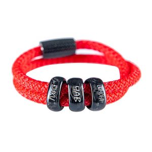 Personalized red paracord carbon fiber bracelet Surfcord