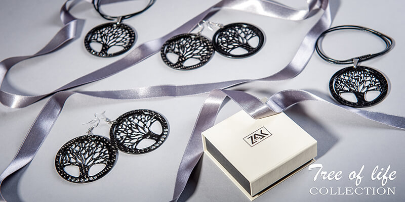 Tree of Life Carbon Fiber Jewelry Collection